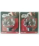 2x TWO Disney Star Wars Storm Trooper Night Light Bulb Rotary Shade 4-7 ... - $12.74