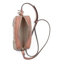 NEW Gucci Beige Pink GG Guccissima Leather Bree Crossbody Camera Shoulder Bag image 4