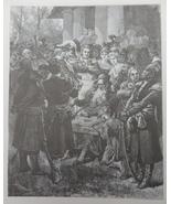 Jew man play Dulcimer, Ethnic scene, Vintage Art print, Steel engraving,... - $15.99