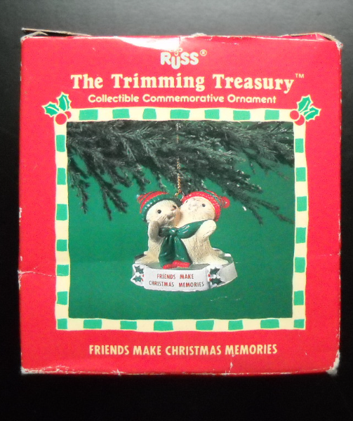 Primary image for Russ Christmas Ornament The Trimming Treasury Friends Make Christmas Memories