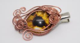"Handmade Wire Wrapped ""Evil Eye"" Hair Clip - $30.00"