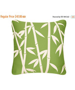 ON SALE Bamboo Wabisabi Green Throw Pillow Cover, Green, Orange, Purple,... - $24.95