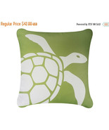 ON SALE Sea Turtle Wabisabi Green Throw Pillow Cover, Green or Blue, 18x... - $24.95