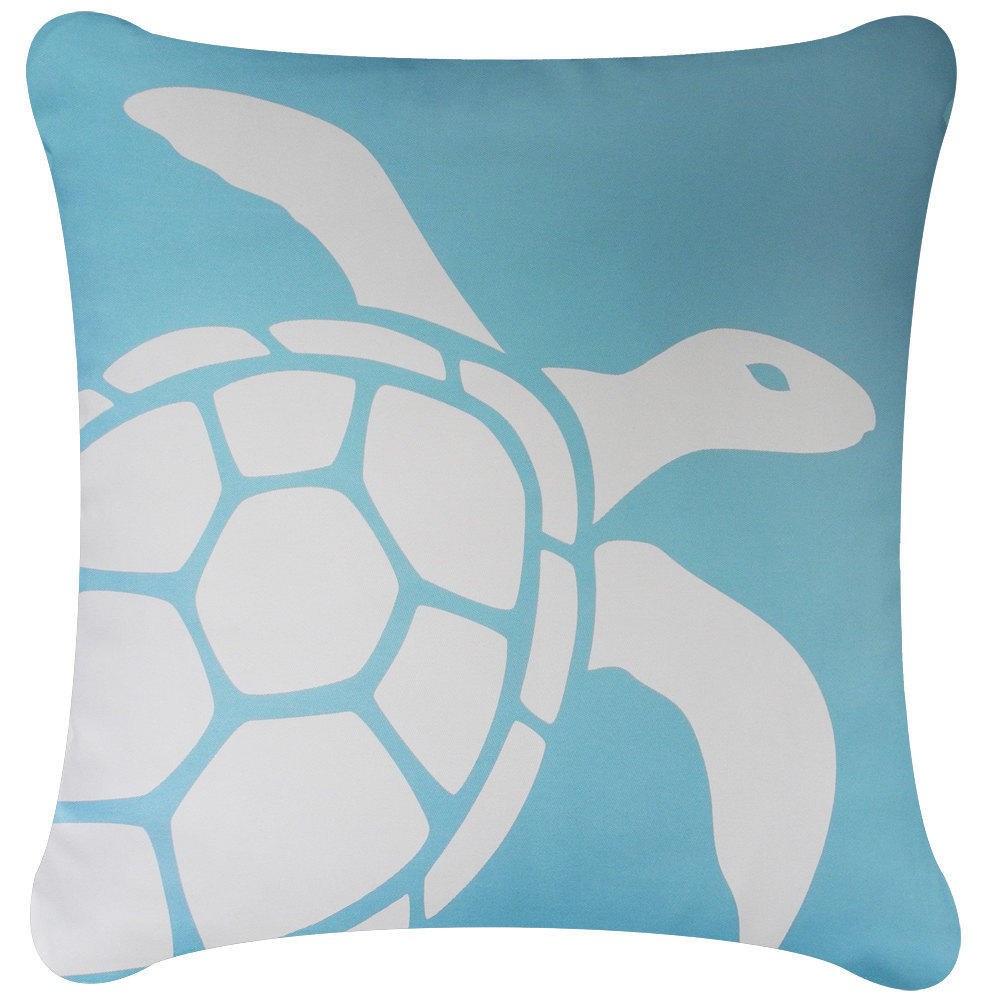 ON SALE Sea Turtle Wabisabi Green Throw Pillow Cover, Green or Blue, 18x18-Inch
