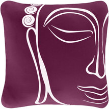 ON SALE Buddha Wabisabi Green Throw Pillow Cover, Purple or Beige, 18x18 - $24.95