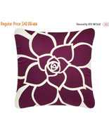 ON SALE Bloom Wabisabi Green Throw Pillow Cover, Green, Orange, Purple, ... - $24.95