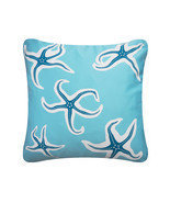 ON SALE Starfish Wabisabi Green Throw Pillow Cover, Blue or Beige, 18 x ... - £18.90 GBP