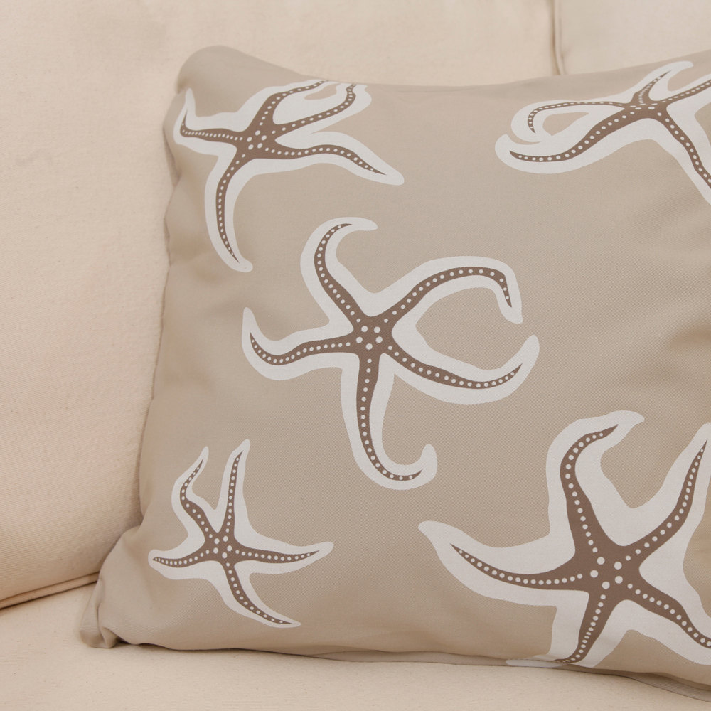 ON SALE Starfish Wabisabi Green Throw Pillow Cover, Blue or Beige, 18 x 18-Inch