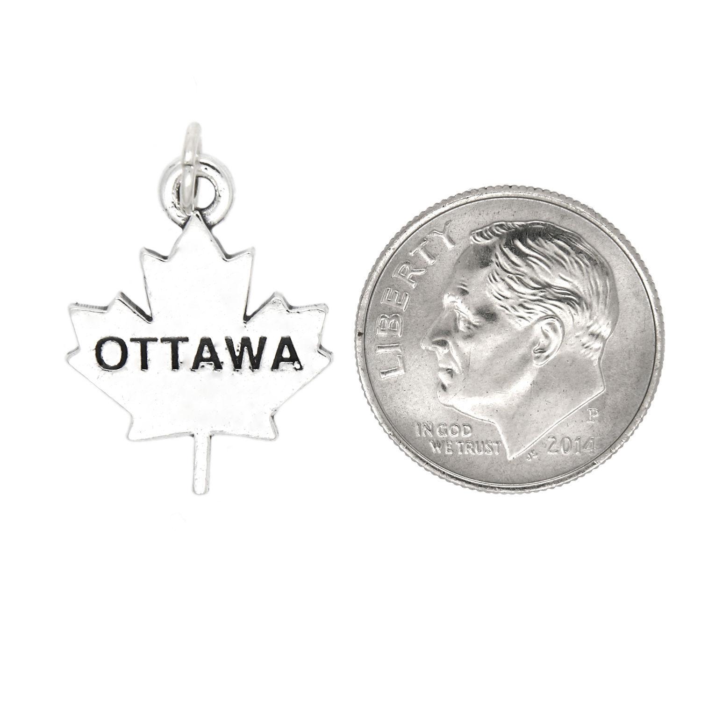 Sterling Silver Ottawa Canada Charm