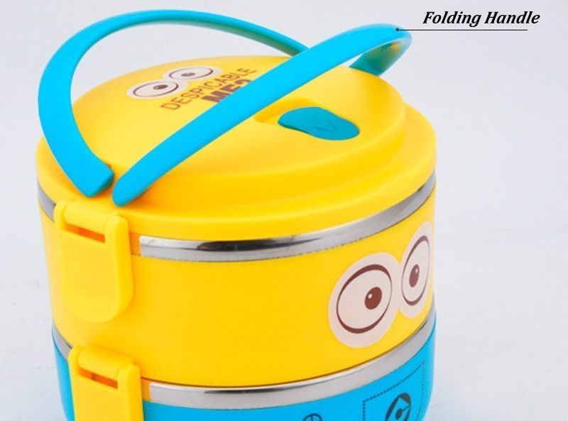 Thermos Lunch Box Container Insulated Bento 3 Containers Kid Thermal School Food