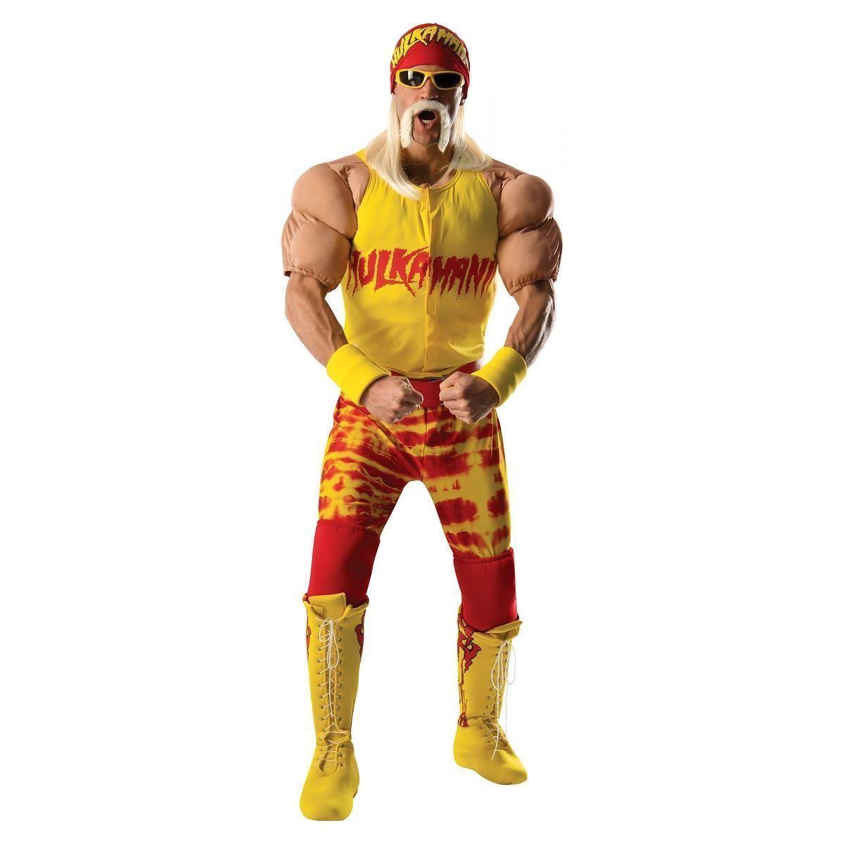 HULK HOGAN WCW Muscle Deluxe Costume Adult WWE Wrestler FREE SHIPPING