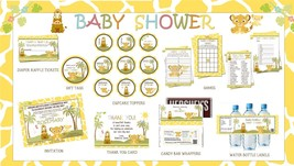 SIMBA Lion King Baby Shower Party Printables Deluxe Package - Print your... - $35.00