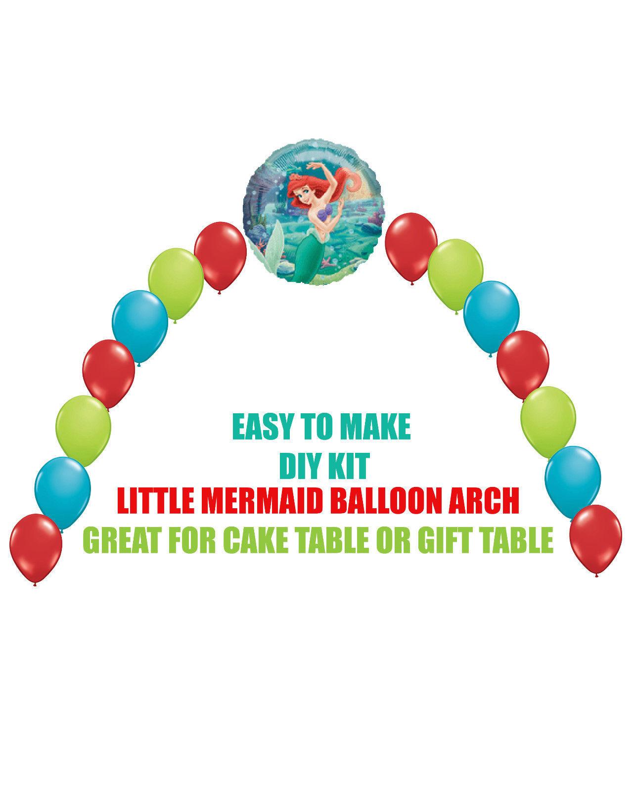 Little mermaid ariel balloon arch diy kits party for Balloon decoration kit