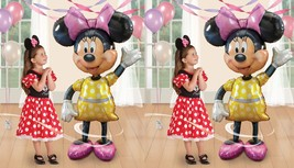 "TWO Disney Minnie Mouse 54"" Airwalker Birthday Balloons Minnie Birthday ... - €20,86 EUR"
