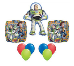 Toy Story Buzz Lightyear Birthday Party Supplies 9ct Mylar Foil Birthday... - €13,23 EUR