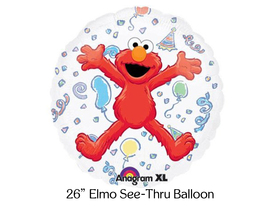 ELMO Sesame Birthday Party Balloons, Elmo See Thru Party Balloons - €6,81 EUR