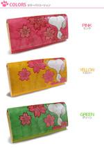Snoopy SAKURA Long cowhide Wallet purse Cherry ... - $212.85