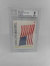 2001 Topps Enduring Freedom Stickers #3 America the Beautiful Beckett Grade 8 NM - $1.99