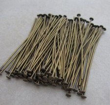 200pcs Antique Brass Pins Rings Chandelier Lamp Crystals Bead Connector ... - $6.40