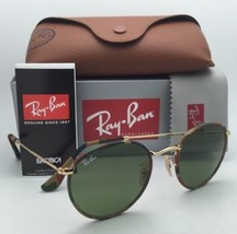 Ray-Ban Sunglasses ROUND METAL RB 3447-J-M 168/4E Green-Brown Camouflage & Gold