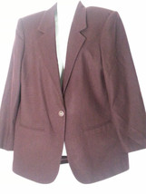 VINTAGE SAG HARBOR HUNTER MAROON WINE BURGUNDY BLAZER JACKET 10 MEDIUM M - $37.20