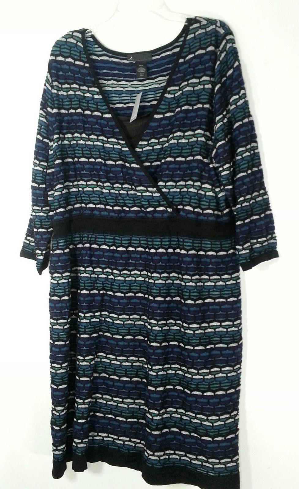 6885cf7a888cb Lane Bryant Wrap Stertch Dress 26 28 3X Plus and 50 similar items