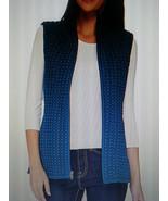 Susan Graver Zip Front Vest 3X 26 28 Plus Size Teal Vest New QVC A268575 - $46.74