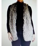 Democracy Faux Fur Vest Large 14 16 Gray NWT    - $46.50