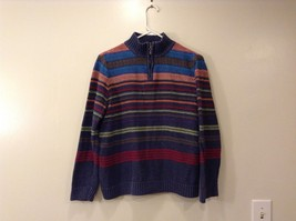 Ladies Christopher & Banks blue Striped sweater - $34.64