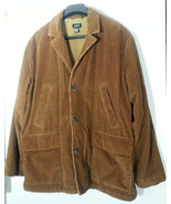 J CREW CORDUROY JACKET COAT XL EXTRA LARGE SHERPA HUNTING FISHING BOATING - $82.87