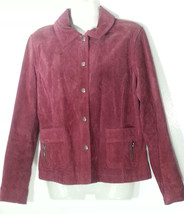 CHICO'S SUEDE LEATHER PINK JACKET SMALL S 8  - $37.04