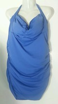Aerin Rose Swimsuitb Convertible One Piece Bathingsuit Shirred 20 DD 1X Blue - $55.90