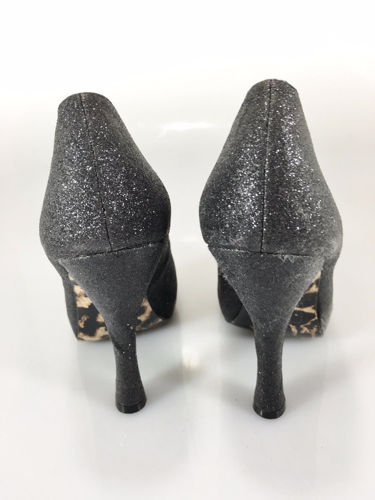 "Betsey Johnson Womens 6.5 Tastty-G Black Glitter 5"" Stiletto Pumps Shoes NEW"