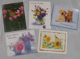 Variety Pack Colorful Note Cards - 5 Cards & White Envelopes - $5.75