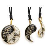 Dragon Yin Yang Best Friend Handmade Brass Neck... - $7.99