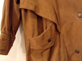 John Weitz Genuine Brown Old Fashioned Leather Jacket Sz L image 3