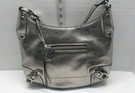 MICHAEL KORS Shiny Silver Corner Buckle Hobo Shoulder Hand Bag AV-1403 - $99.99