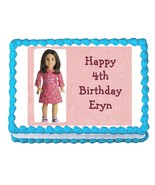 American Girl edible party cake topper cake image sheet party decoration - $7.80