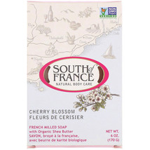 South of France, French Milled Bar Soap with Organic Shea Butter, Cherry... - $6.33