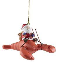Santa Riding a Lobster w/ Christ Presents Ornament - $12.38
