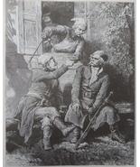 Vintage Art print, Steel engraving, Old Book Illustration, Ethnic scene,... - $15.99