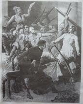 Vintage Art print, Steel engraving, Old Book Illustration, Reprint, 1881 - $15.99