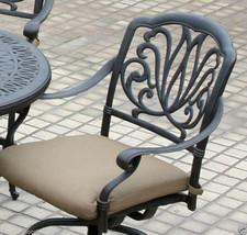Patio 5 piece set outdoor Furniture Cast Aluminum bar height Elisabeth Bronze image 5