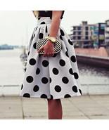 Autumn Winter Hot Women Midi Skirt Bubble Skirt Vintage Polka Dot Pleate... - $99.00