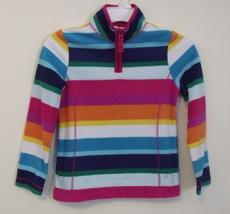 Girls Old Navy Multi Color Stripe Fleece Long Sleeve Top Size M 8 - $5.95