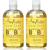 Shea Moisture Raw Shea Butter Baby Head-to-Toe Wash & Shampoo, 13 Oz, Pack of 2