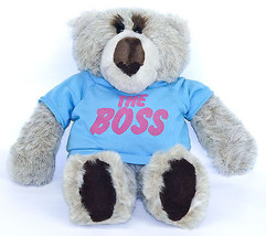 Emotions Mattel Gray Teddy Bear Blue Shirt The ... - $27.95