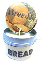 Bread (Fresh Baked) - 4oz Hand Made Soy Candle Travel Tin - Approximate ... - $5.86