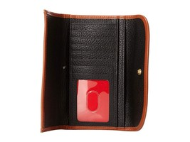 Dooney & Bourke Black Pebble Leather Continental Clutch Wallet image 3
