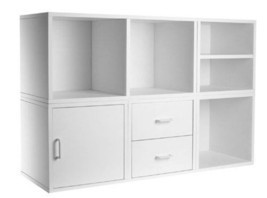 White 5 Shelf Cube Storage System Solid Wood Cl... - $181.16
